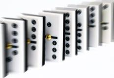 Fila dei domino Fotografie Stock