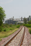 Fila dei granai per la conservazione grano e degli altri chicchi di grano, del silo agricolo e della produzione tenuta da agricol Immagine Stock