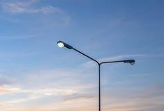 Fila dei lampioni Immagini Stock