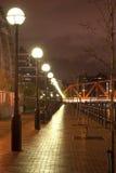 Fila delle iluminazioni pubbliche Fotografie Stock Libere da Diritti