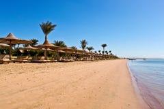 Spiaggia del Mar Rosso fotografie stock libere da diritti