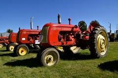 Fila dei trattori di Cockshutt su esposizione Immagine Stock