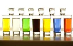 Fila dei vetri di alcool Immagini Stock Libere da Diritti