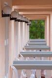 Fila del balcone Fotografia Stock