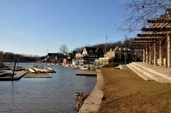 Fila del Boathouse, parque de Fairmount, Philadelphia foto de archivo libre de regalías