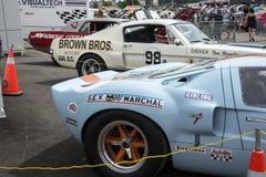 Fila del coche de carreras Fotos de archivo