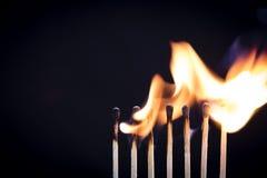 Fila del fiammifero Fotografia Stock
