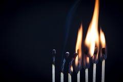 Fila del fiammifero Immagine Stock