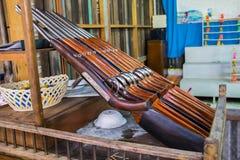 Fila del fucile ad aria compressa del giocattolo alla Tailandia immagini stock