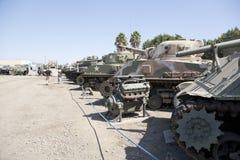 Fila del museo militar americano de los tanques Fotografía de archivo libre de regalías