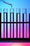 Fila del tubo de prueba Foto de archivo libre de regalías
