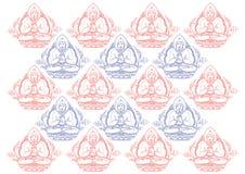 Fila del vector del fondo de Buda Foto de archivo
