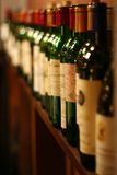 Fila del vino Imagenes de archivo
