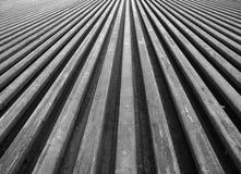 Fila dell'acciaio leggero della ferrovia Fotografia Stock