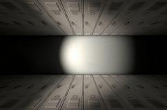 Fila dell'armadio della scuola nuova Fotografia Stock