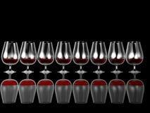 fila dell'illustrazione 3d dei vetri di gemito Fotografia Stock Libera da Diritti