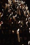 Fila della candela fotografia stock
