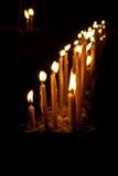 Fila della candela Fotografie Stock Libere da Diritti