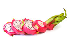 Fila della fetta della frutta del drago Immagine Stock