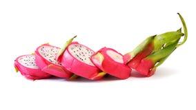 Fila della fetta della frutta del drago Immagini Stock Libere da Diritti