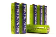 Fila delle batterie Fotografia Stock