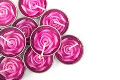 Fila delle candele aromatiche Immagine Stock