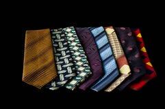 Fila delle cravatte raccolta, modello, elegante accessorio degli uomini, modo Fotografia Stock