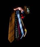 Fila delle cravatte raccolta, modello, elegante accessorio degli uomini, modo Immagini Stock Libere da Diritti