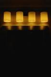 Fila delle luci Immagine Stock