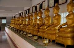 Fila di Buddha dorato in Tailandia in Ang Thong Immagine Stock Libera da Diritti