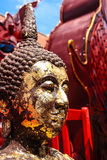Fila di Buddhas Fotografia Stock