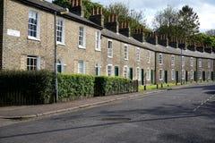Fila di case, Cambridge, Inghilterra Fotografia Stock