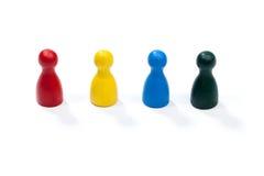 Fila di multi figure colorate del gioco Immagini Stock Libere da Diritti