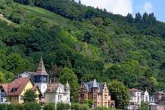 Fila di vecchie case in Germania Fotografia Stock Libera da Diritti