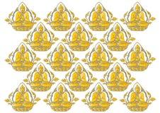 Fila di vettore del fondo di Buddha Fotografia Stock