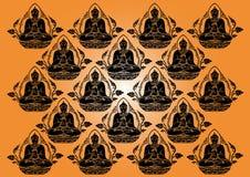 Fila di vettore del fondo di Buddha Fotografie Stock Libere da Diritti
