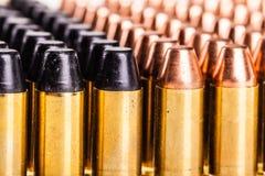 Fila differente delle pallottole Fotografia Stock