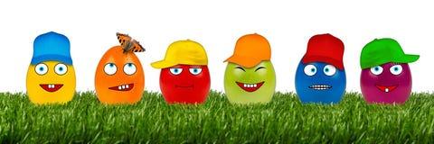 Fila divertente dell'uovo di Pasqua Immagini Stock