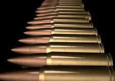 Fila graffiata della pallottola Immagini Stock Libere da Diritti