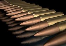 Fila graffiata della pallottola Fotografia Stock