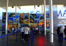 Fila para bilhetes no aquário de Barcelona Foto de Stock