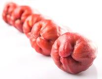 Fila Rose Apple Fruit esotica I Immagini Stock
