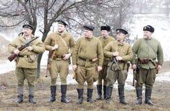 Fila rusa de los infantes de marina Foto de archivo libre de regalías