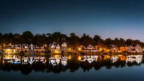 Filadelfia Boathouse rząd nocą obrazy stock