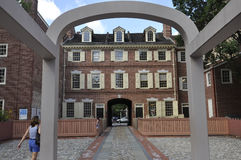 Filadelfia, il 4 agosto: Posizione di Benjamin Franklin House da Filadelfia in Pensilvania Immagine Stock Libera da Diritti
