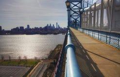 Filadelfia od Ben Franklin mosta obrazy stock