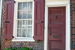 FILADELFIA, PA - MAJ 14: Historyczny Stary miasto w Filadelfia, Pennsylwania Elfreth ` s aleja, nawiązywać do jako Zdjęcie Royalty Free