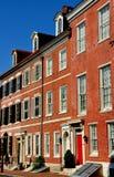 Filadelfia, PA: Południe 4th Uliczni Federacyjni domy Fotografia Stock