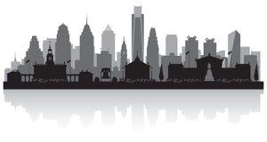 Filadelfia Pennsylwania miasta linii horyzontu sylwetka ilustracji
