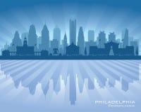 Filadelfia Pennsylwania miasta linii horyzontu wektoru sylwetka royalty ilustracja